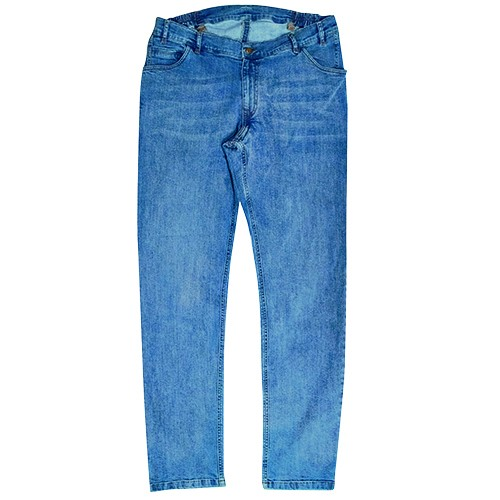 Men's Basic Jeans Blue MIKE 10289 - 100% Cotton