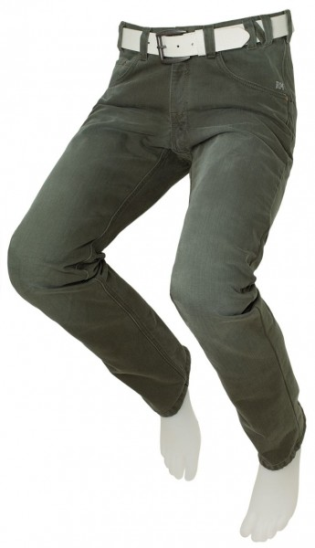Herren-Thermohose, Grün washed, MIKE 10060