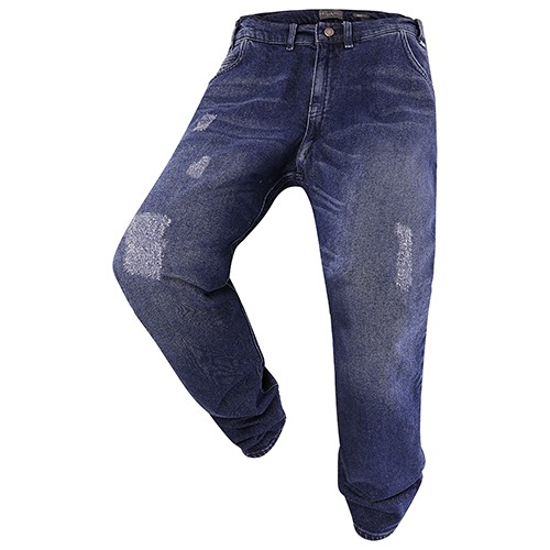 Men's Jeans Fashion Destroy Edition darkblue MIKE 10837