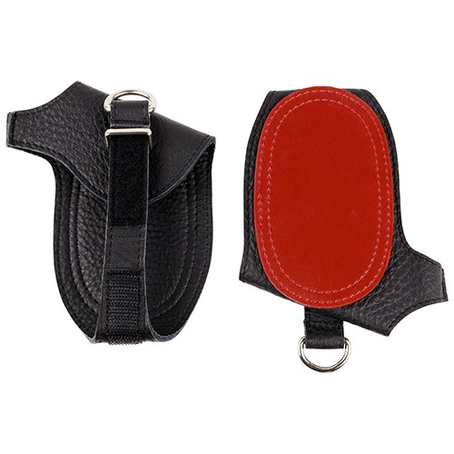 Hand protection, black-red 28095 lightred